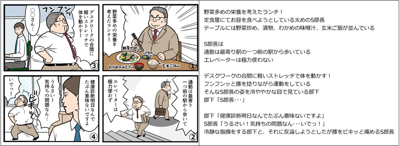 4コマ漫画と文章